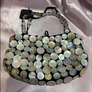 Mother of Pearl-button mini purse